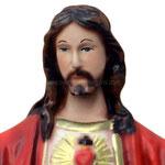 statua Sacro Cuore di Gesù braccia aperte cm 30 -volto