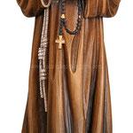 statua Padre Pio in legno - busto