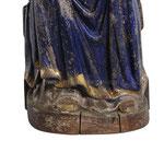 statua Madonna di Mariazell seduta in legno - base