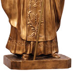 statua San Giovanni Paolo II cm 200 color bronzo - base