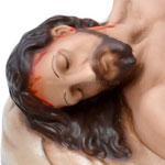 statua Gesù morto cm 50 -volto
