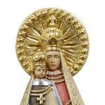 statua Madonna di Mariazell in legno - volto