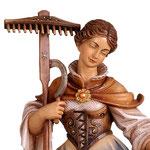 statua Santa Notburga in legno - volto