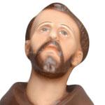 statua San Francesco d' Assisi cm. 42 - volto