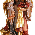 statua Santa Elisabetta con pane in legno - busto