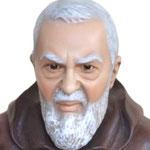 statua San Padre Pio cm 80 -volto