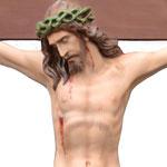 statua Cristo in croce cm 105 -volto
