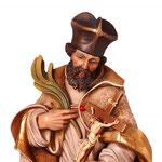 statua San Giovanni Nepomuceno in legno - volto