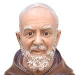 statua San Padre Pio cm 110 -volto