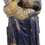 statua Madonna di Mariazell seduta in legno - busto