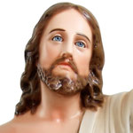 statua Gesù risorto cm 110 -volto