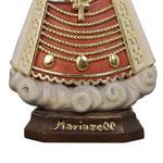 statua Madonna di Mariazell in legno - base