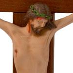 statua Cristo in croce cm 25 -volto