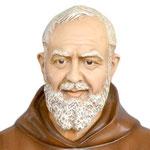 statua San Padre Pio cm 180 -volto