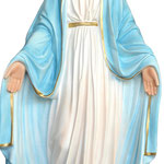 statua Madonna Miracolosa cm 72 - mani