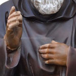 statua San Padre Pio cm 60 -mani