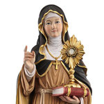 statua Santa Chiara in legno - volto
