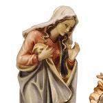 statua Sacra Famiglia con con culla lavorata - Maria