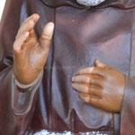 statua San Padre Pio cm 80 -mani