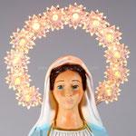 statua Madonna Immacolata cm 40 resina illuminata - volto
