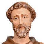 statua San Francesco d' Assisi cm. 150 - volto