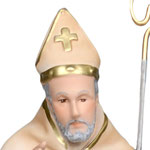 statua Sant' Alfonso cm 45 - volto