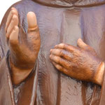 statua San Padre Pio cm 110 -mani