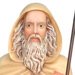 statua Sant' Antonio Abate cm 130 - volto