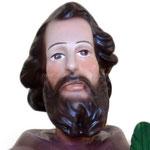 statua San Ciro cm 55 - volto