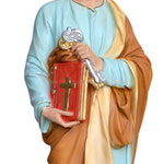 statua San Pietro cm 60 -mani
