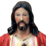 statua Sacro Cuore di Gesù braccia aperte cm 25 -volto