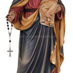 statua Madonna del rosario in legno - busto