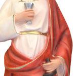 statua Santa Barbara cm 60 - volto - mani