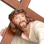 statua Gesù cadente cm 23 -volto