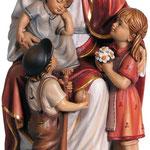 statua Gesù con bambini in legno - busto