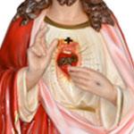 statua Sacro Cuore di Gesù benedicente cm 160 -mani