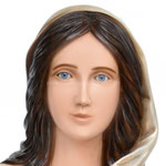 statua Maria di Nazareth cm 120 - volto