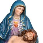 statua Madonna Pietà cm 33 - volto