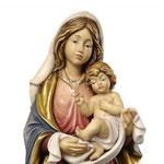 statua Madonna dell' amore in legno - volto