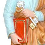 statua San Pietro cm 42 -mani