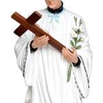 statua San Luigi cm 170 - mani