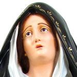 statua Madonna Addolorata cm 150 - Volto