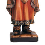 statua Santa Caterina Tekakwitha in legno - base