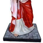 statua Gesù cadente cm 127 -base