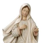 statua Madonna di Medjugorje Regina Pacis in legno - volto