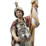 statua San Floriano in legno - volto