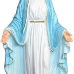statua Madonna Miracolosa cm 40 resina - mani
