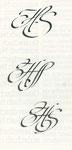 766 HS Initialen Studie (Datum unbekannt), Tusche