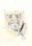 559 Portrait Hans Luz (ca. 2005), 10x15 cm, Buntstift, Aquarell