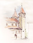132 Insel Reichenau (1997), 30x40 cm, Aquarell